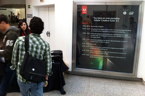 Agenda | Presentación Adobe Creative Suite 5.5 en el IMAX de Madrid