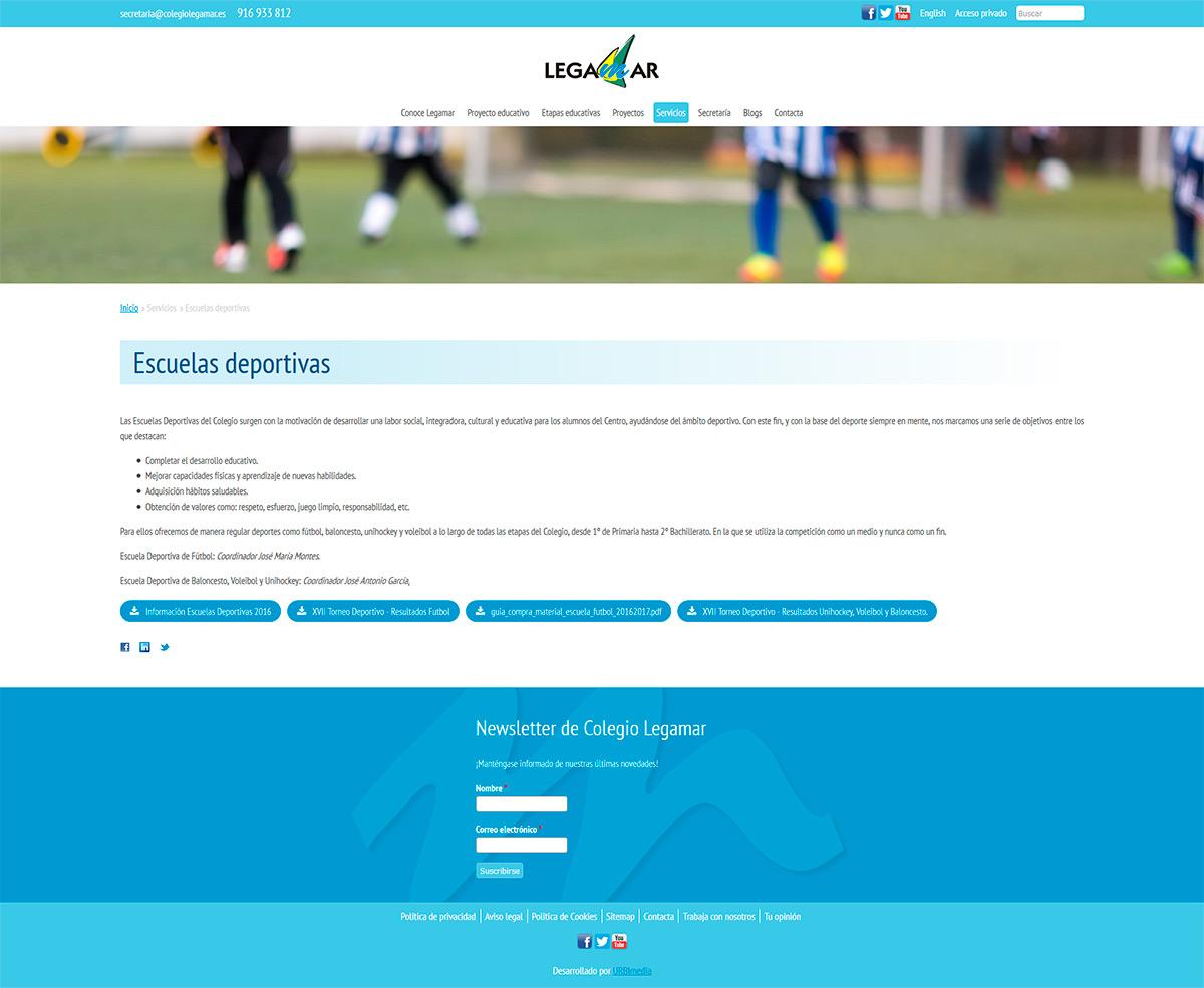 Página - Colegio Legamar