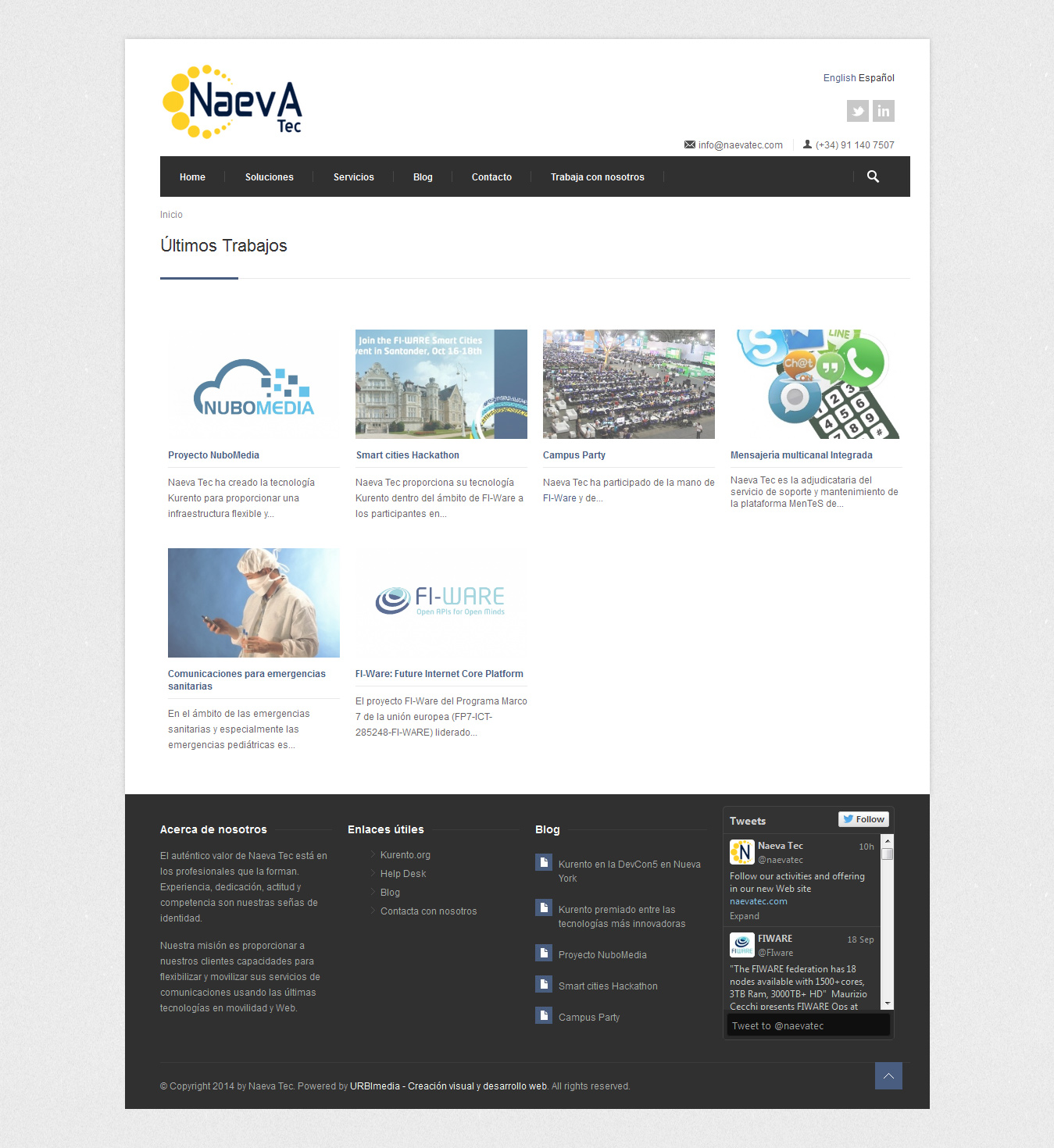 Naevatec - Trabajos