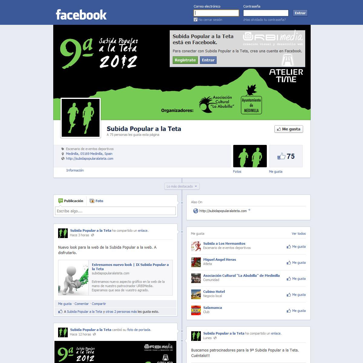 Facebook - IX Subida Popular a la Teta