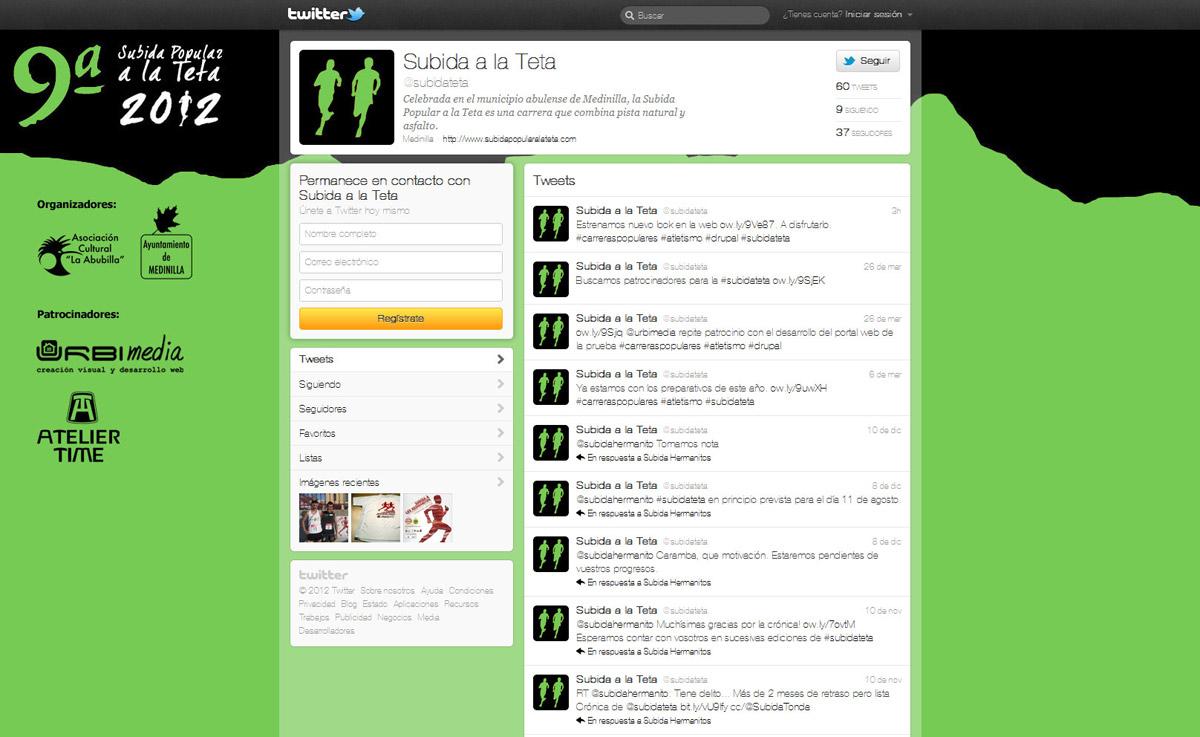 Twitter - IX Subida Popular a la Teta