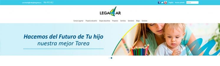 Web Colegio Legamar - Rediseño y adaptación a responsive